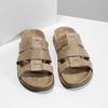 Jasnobrązowe skórzane klapki męskie bata, brązowy, 866-3639 - 16