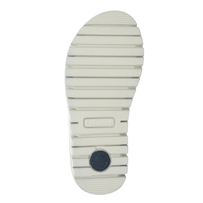Granatowe skórzane sandały dziewczęce zkryształkami mini-b, niebieski, 463-9603 - 19