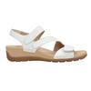 Białe skórzane sandały na rzepy gabor, biały, 666-1018 - 26