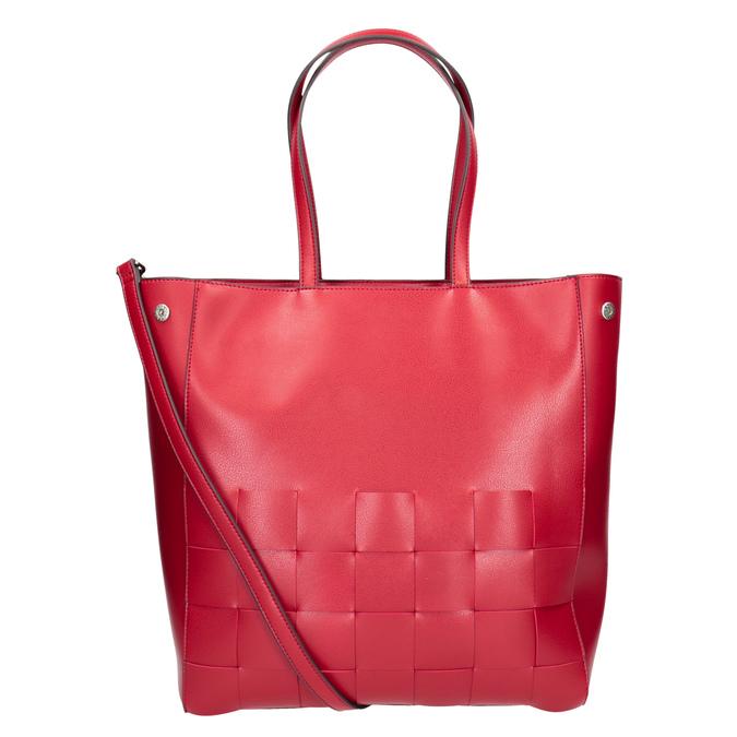 Przestronna czerwona torba zprzeplatanymi pasami bata, czerwony, 961-5236 - 16