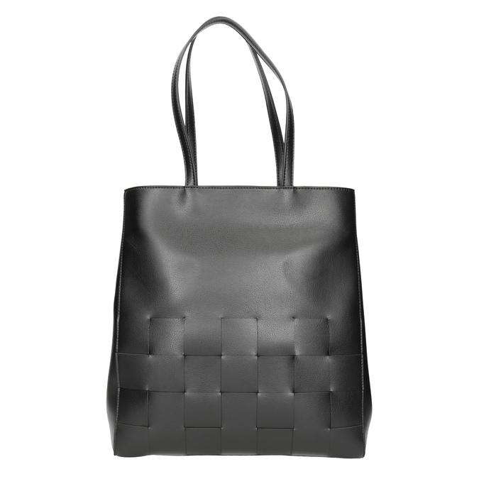Czarna torebka zprzeplatanymi pasami bata, czarny, 961-6236 - 26