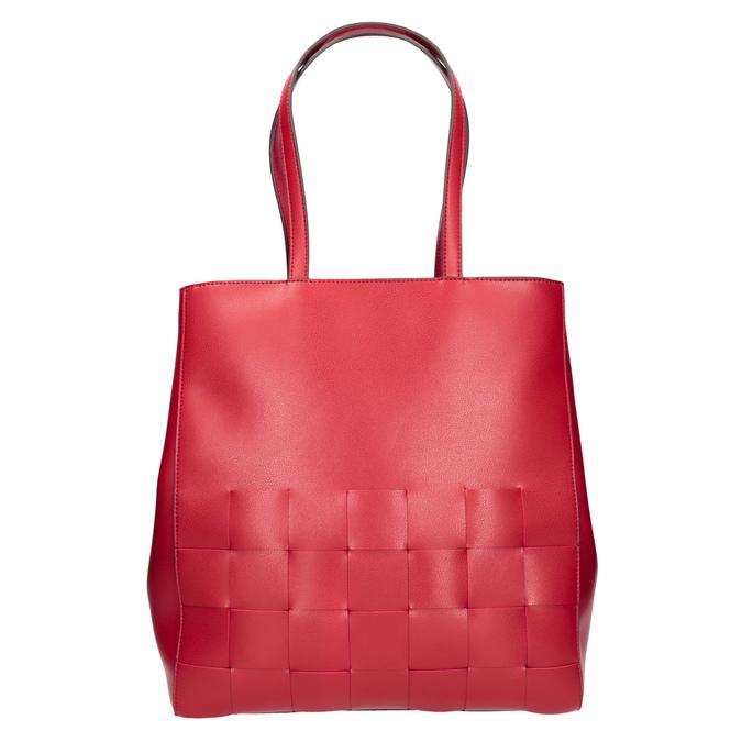 Przestronna czerwona torba zprzeplatanymi pasami bata, czerwony, 961-5236 - 26