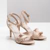Różowe sandały zfalbanką, na szpilkach insolia, różowy, 769-5619 - 26
