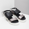 Czarno-srebrne sandały damskie na platformie bata, czarny, 661-6614 - 26