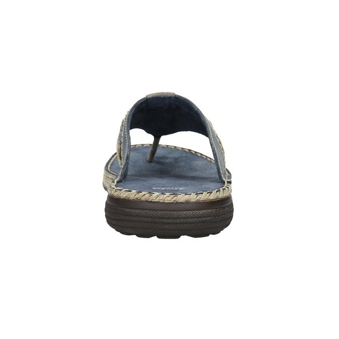 Skórzane japonki męskie zprzeszyciami bata, szary, 866-9845 - 15