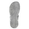 Granatowe skórzane sandały męskie na rzepy bata, szary, 866-9640 - 18