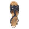 Skórzane sandały na stabilnych obcasach gabor, 766-9378 - 15