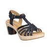 Skórzane sandały na stabilnych obcasach gabor, 766-9378 - 13