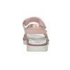 Różowe skórzane sandały dziewczęce zkryształkami mini-b, różowy, 463-5603 - 15