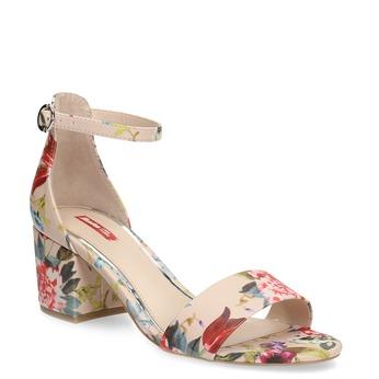 Sandały damskie wkwiaty, beżowy, 661-5609 - 13