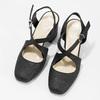 Czarne sandały damskie zbrokatem, na obcasach insolia, czarny, 726-6653 - 16