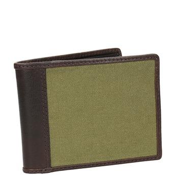 Portfel męski ze skóry oraz materiału tekstylnego bata, zielony, 949-7603 - 13