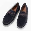 Zamszowe mokasyny bata, niebieski, 853-9614 - 16