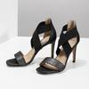 Czarne sandały na szpilkach insolia, czarny, 769-6625 - 16