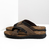 Letnie skórzane klapki męskie bata, brązowy, 866-4612 - 16