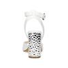 Białe sandały na srebrnych słupkach, 761-5619 - 15
