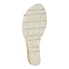Srebrne skórzane sandały na koturnach gabor, srebrny, 766-5015 - 17