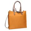 Pomarańczowa torebka wstylu shopper zćwiekami bata, brązowy, 961-3296 - 13