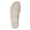 Beżowe skórzane sandały damskie na rzepy, beżowy, 566-8634 - 19