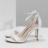 Białe sandały na szpilkach bata-red-label, biały, 661-1610 - 16