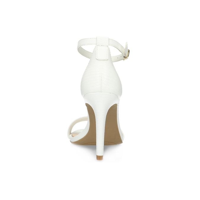 Białe sandały na szpilkach, biały, 661-1610 - 15