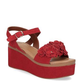 Czerwone sandały na platformie bata, czerwony, 763-5601 - 13