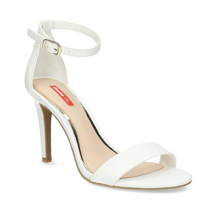 Białe sandały na szpilkach, biały, 661-1610 - 13