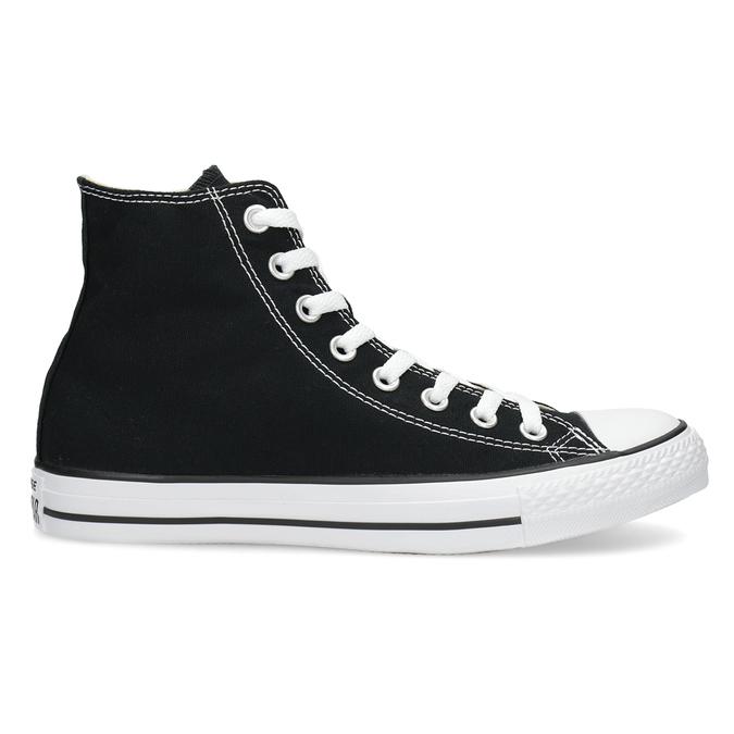 Czarno-białe trampki męskie zgumowymi noskami converse, czarny, 889-6278 - 19