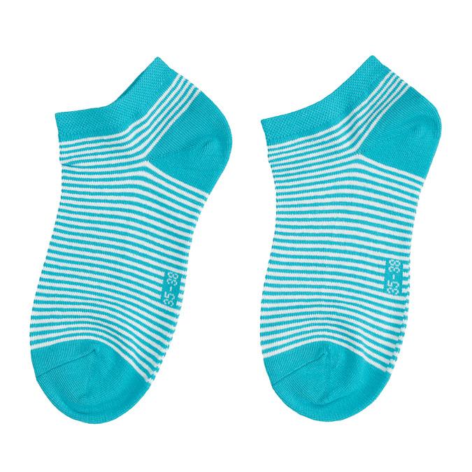 Stopki damskie wniebieskie prążki bata, niebieski, 919-9816 - 26
