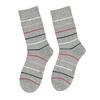 Długie szare skarpetki damskie wpaski bata, szary, 919-2811 - 26