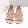 Sandały damskie wkolorze starego różu, ozdobione kryształkami bata, różowy, 561-5614 - 16