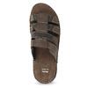 Brązowe skórzane klapki męskie bata, brązowy, 876-4600 - 17