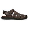 Brązowe skórzane sandały męskie zpełnymi noskami bata, brązowy, 866-4616 - 19