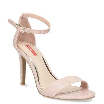 Różowe sandały na szpilkach, różowy, 661-5610 - 13