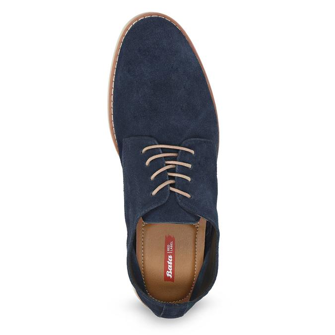 Niebieskie nieformalne półbuty męskie bata-red-label, niebieski, 823-9625 - 17