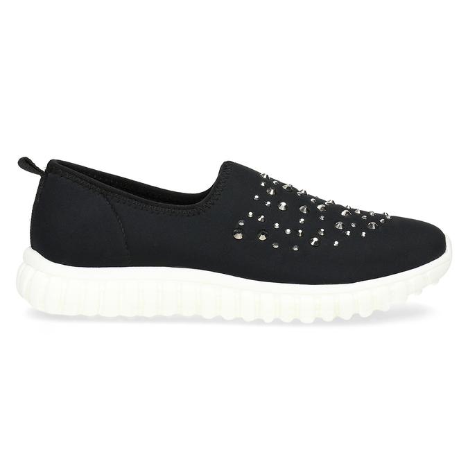 Wsuwane buty damskie zkryształkami bata-red-label, czarny, 539-6604 - 19