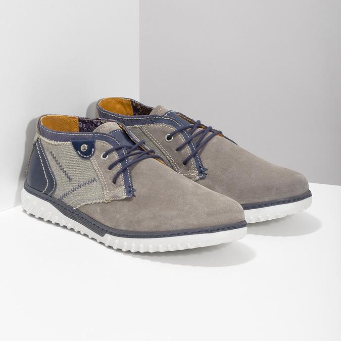 Męskie buty za kostkę bata, szary, 843-2633 - 26
