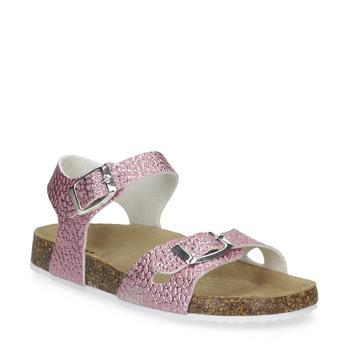 Różowe korkowe sandały mini-b, różowy, 361-5250 - 13