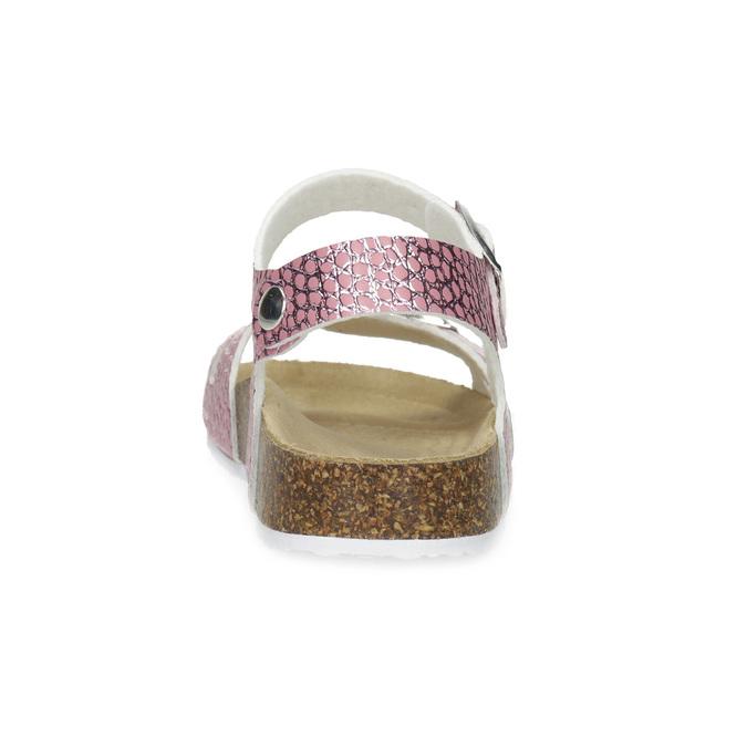 Różowe korkowe sandały mini-b, różowy, 361-5250 - 15