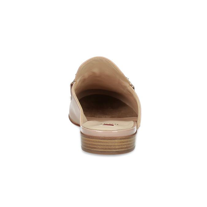 Skórzane mokasyny bez pięty, ze złotymi wędzidłami hogl, różowy, 516-8009 - 15
