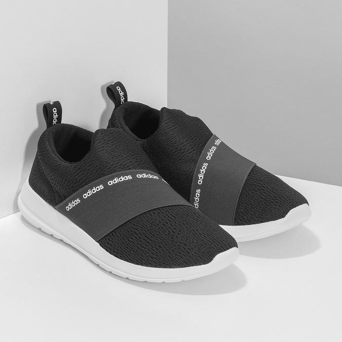 Czarne wsuwane trampki adidas, czarny, 509-6565 - 26