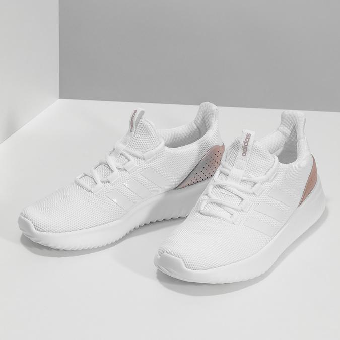 Białe trampki ze złotymi elementami adidas, biały, 509-1579 - 16