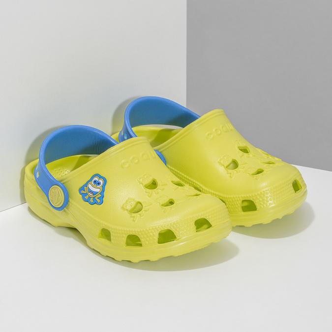 Sandały dziecięce zżabkami coqui, żółty, 272-7650 - 26