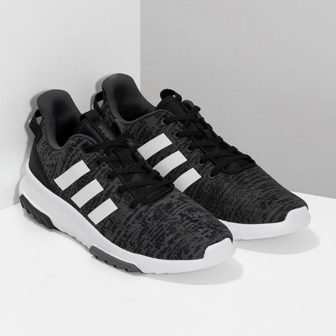 Trampki męskie wdrobny deseń adidas, czarny, 809-6301 - 26