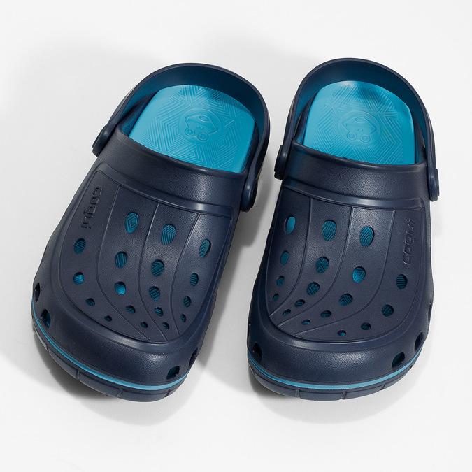 Granatowe sandały dziecięce wstylu chodaków coqui, niebieski, 372-9656 - 16