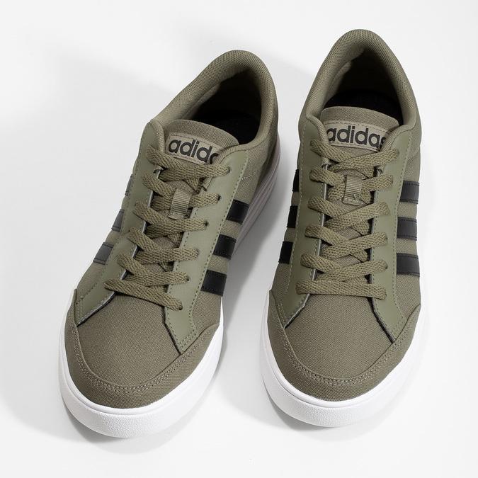Trampki męskie wkolorze khaki adidas, khaki, 889-7235 - 16