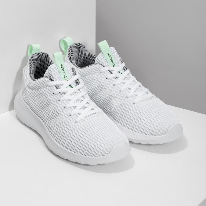 Białe siatkowe trampki adidas, biały, 509-1635 - 26