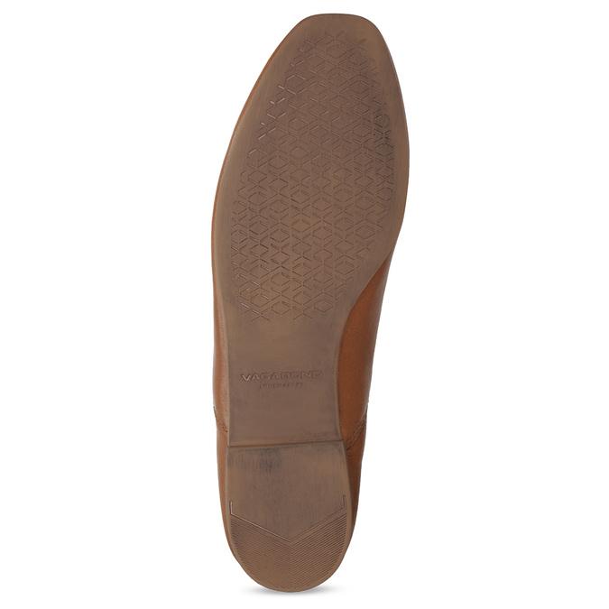 Brązowe skórzane slip-on damskie vagabond, brązowy, 514-4096 - 18