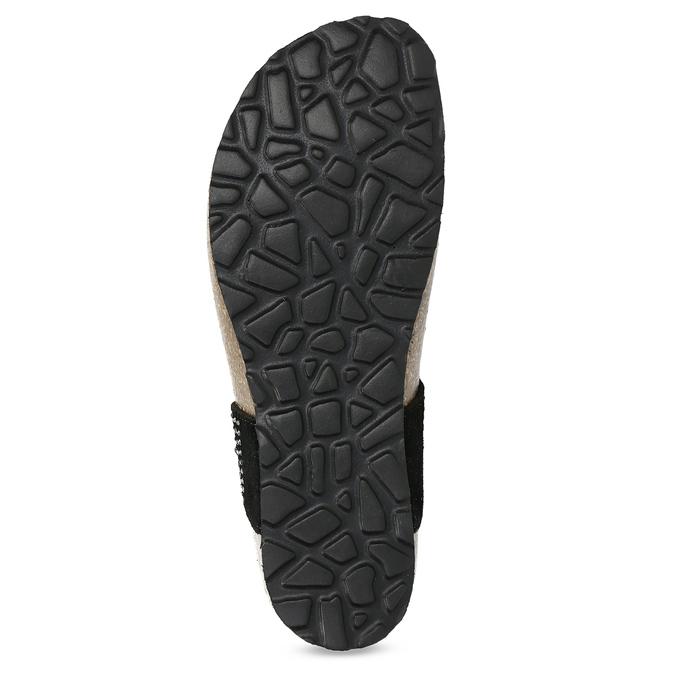 Skórzane japonki damskie zkryształkami bata, czarny, 566-6650 - 18