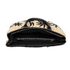 Czarna wyplatana torebka onaturalnej stylistyce bata, czarny, 969-6680 - 15